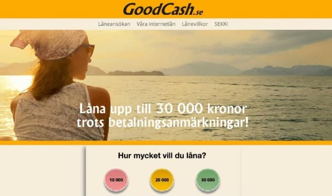 GoodCash - Lån upptill 30 000 kr